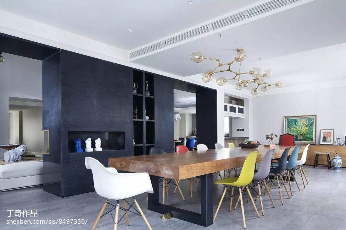热门面积138平别墅餐厅现代装修效果图片欣赏