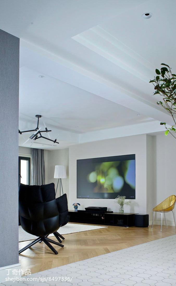 精美114平米现代别墅客厅实景图片大全
