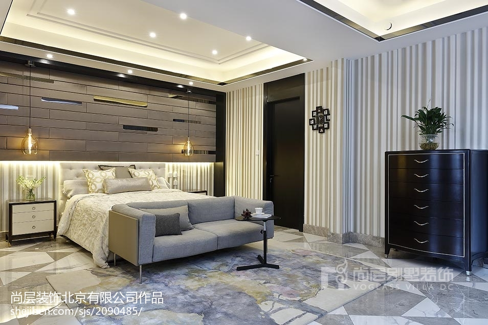 精选面积120平别墅卧室美式装饰图片