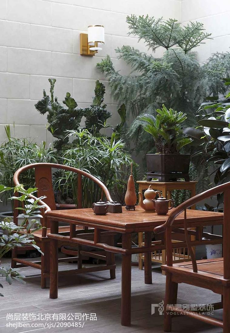精美别墅花园美式装修效果图片