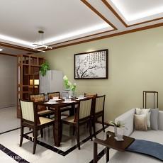 精美面积92平中式三居餐厅效果图