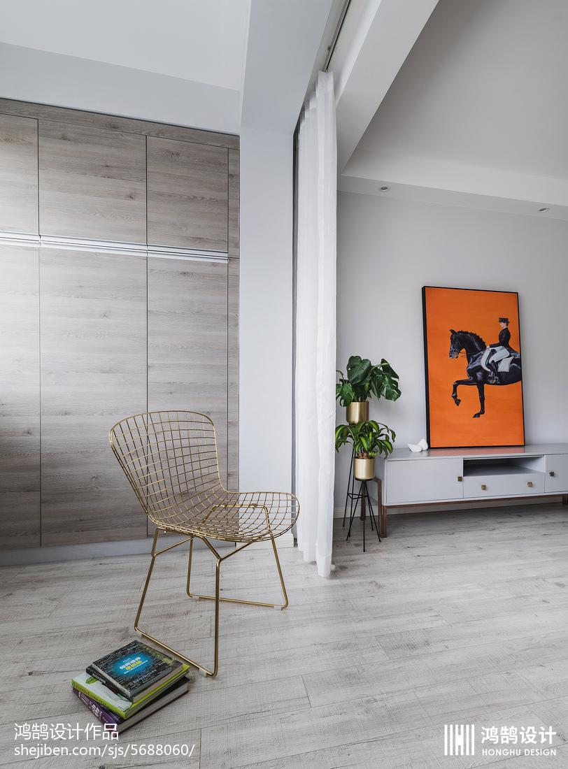 悠雅50平現代二居客廳裝飾圖片