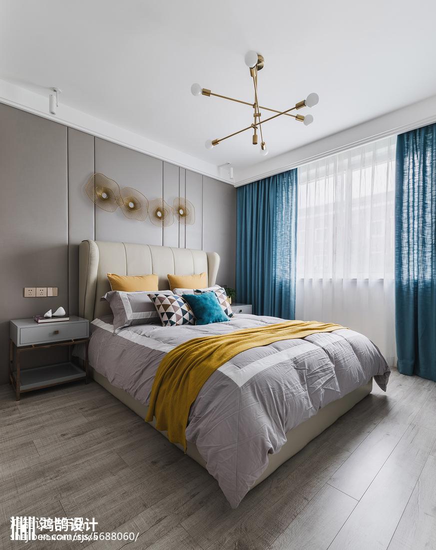热门82平米二居卧室现代欣赏图片大全