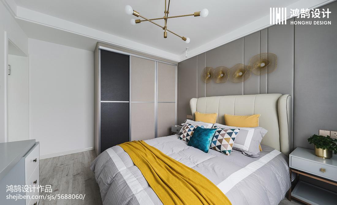 2018精选面积76平现代二居卧室装修效果图