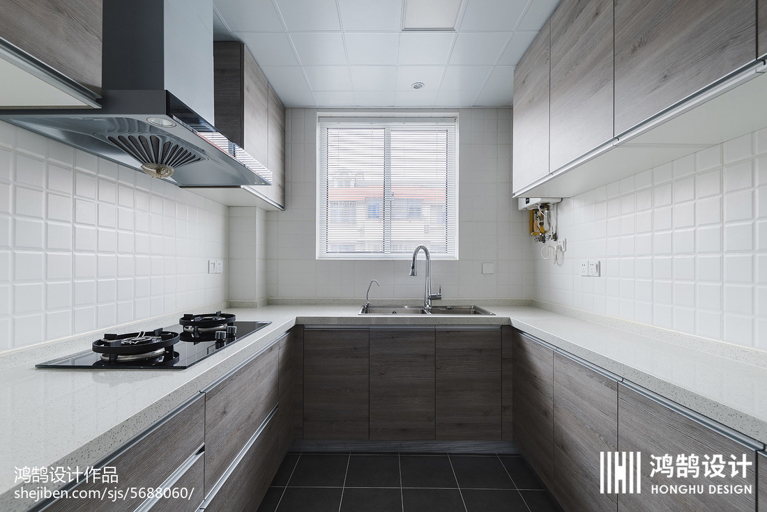 2018面积87平现代二居厨房欣赏图片大全