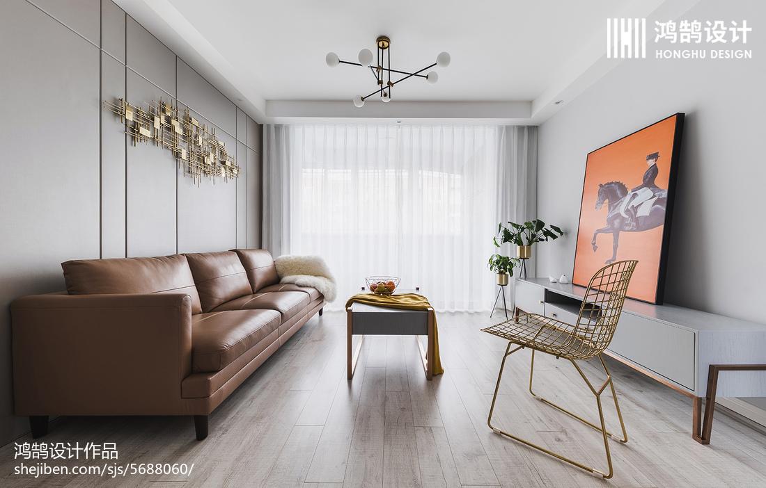 精美面积73平现代二居客厅效果图