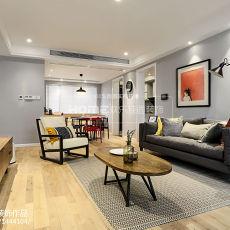精美面积103平现代三居客厅装修设计效果图