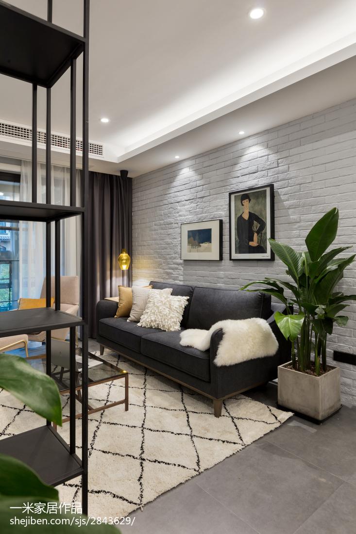 热门85平米现代小户型客厅装修设计效果图片大全