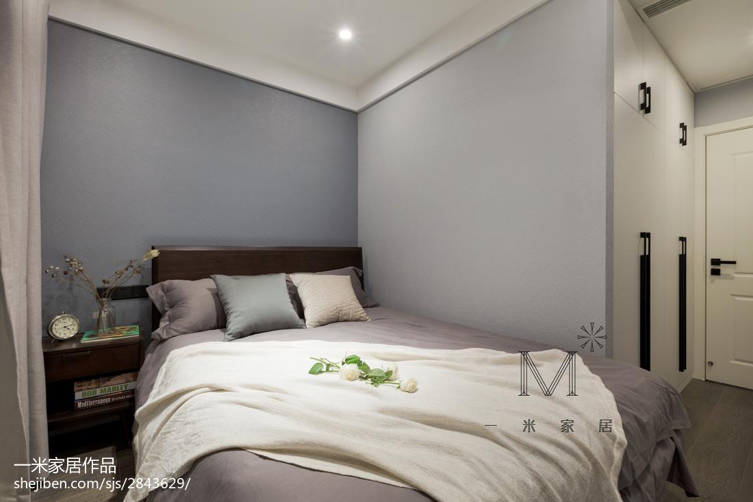 悠雅22平现代小户型卧室装修设计图