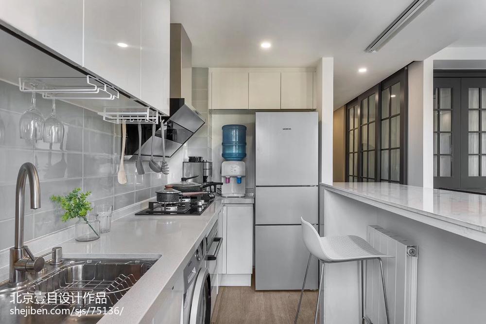 2018面积79平小户型厨房北欧装修图