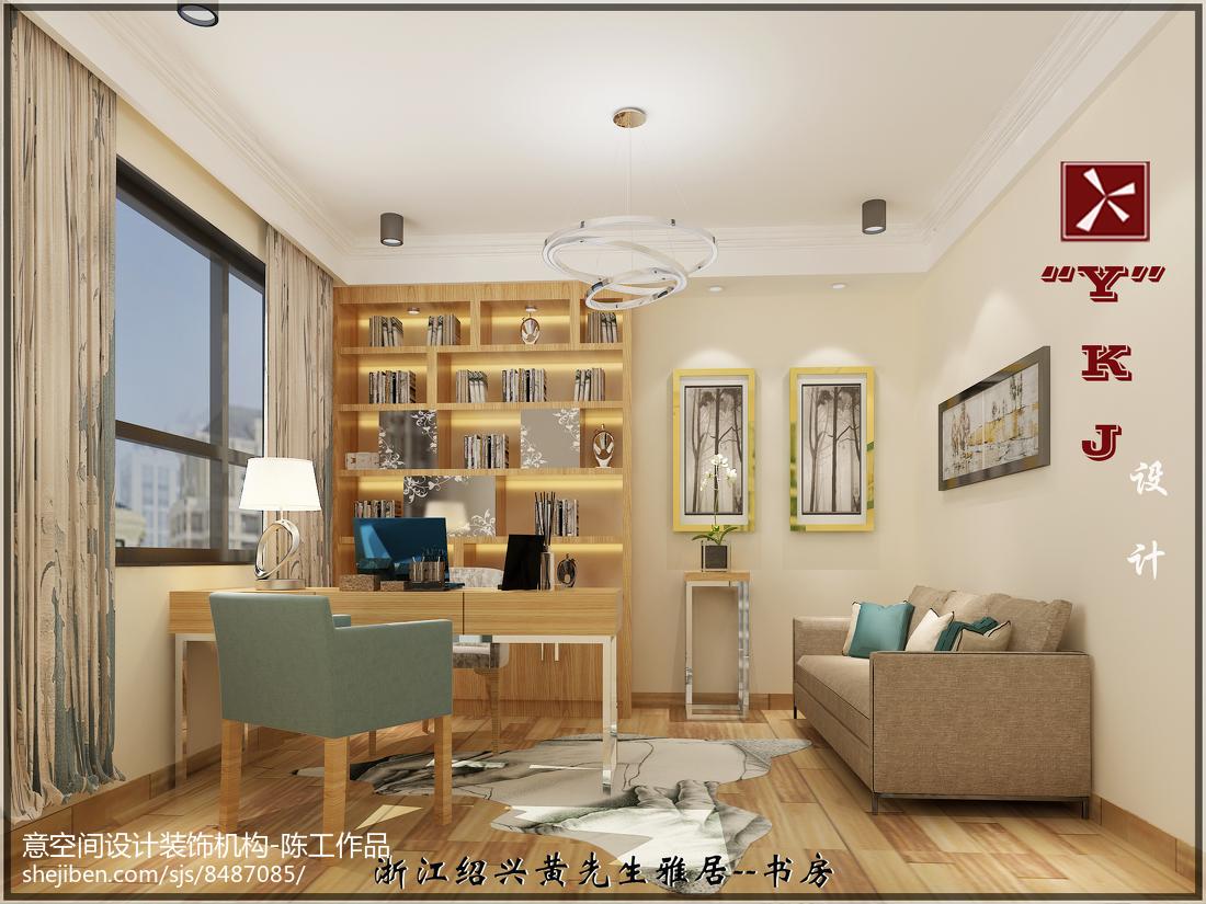 热门144平米四居书房简约装修效果图片欣赏