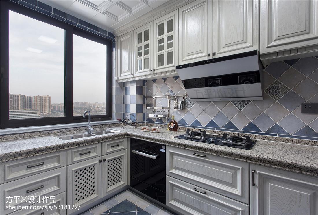 质朴104平美式三居厨房装饰图片