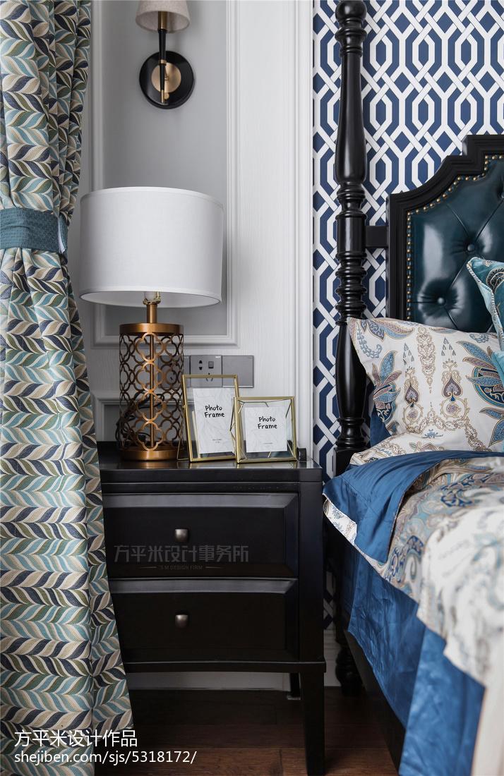 2019104平美式三居卧室装修案例