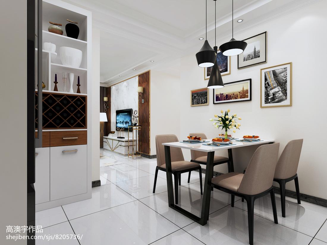 2018精选面积70平小户型餐厅现代装修设计效果图片