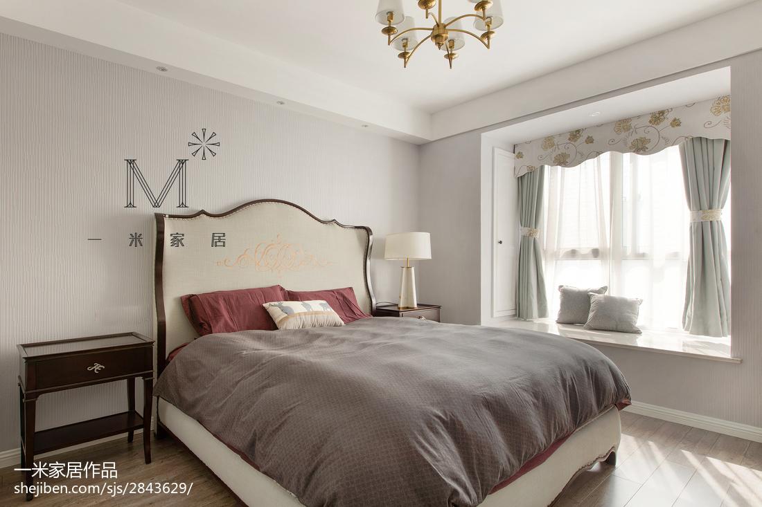 201873平米二居卧室美式装修效果图片