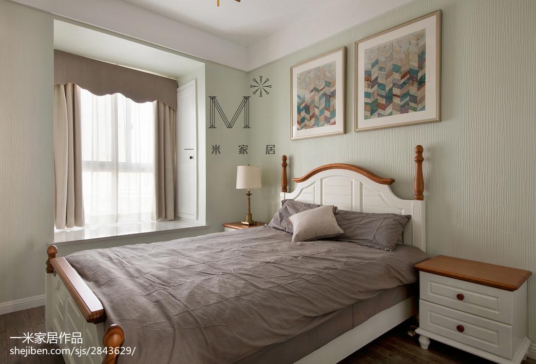 精美90平米二居卧室美式装修欣赏图片大全