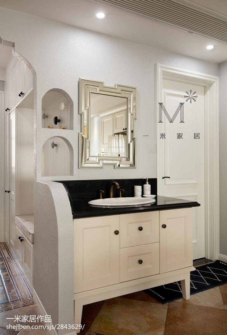 轻奢51平美式二居卫生间设计案例