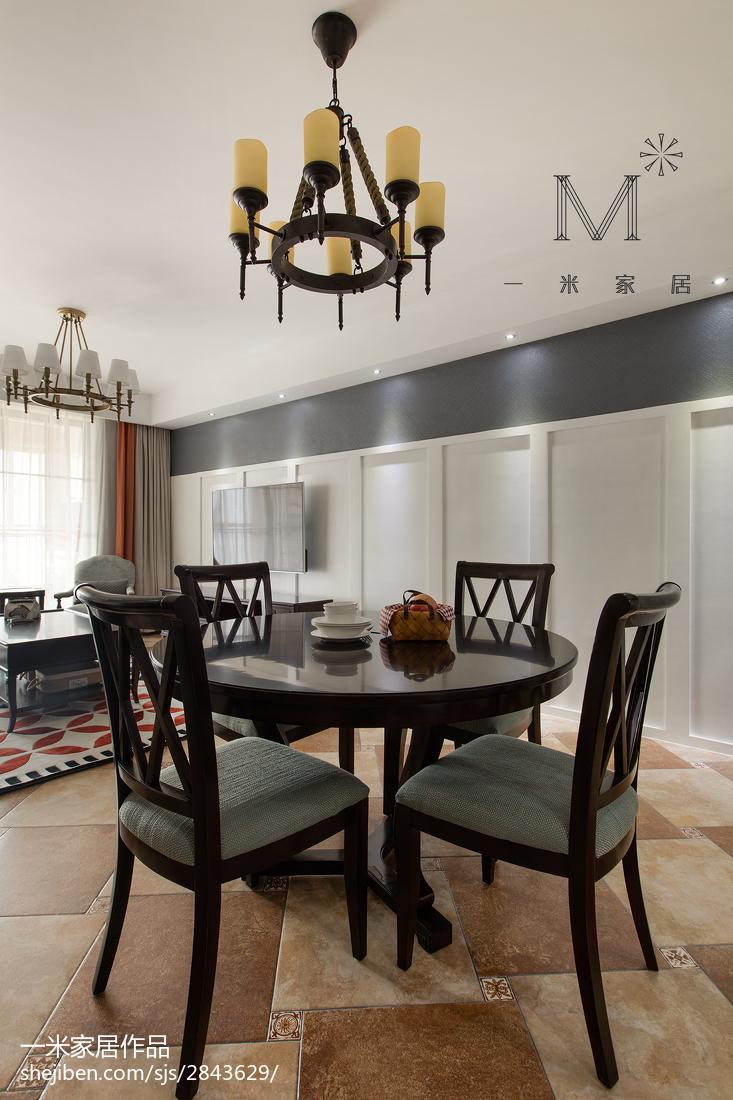 优雅70平美式二居餐厅效果图片大全