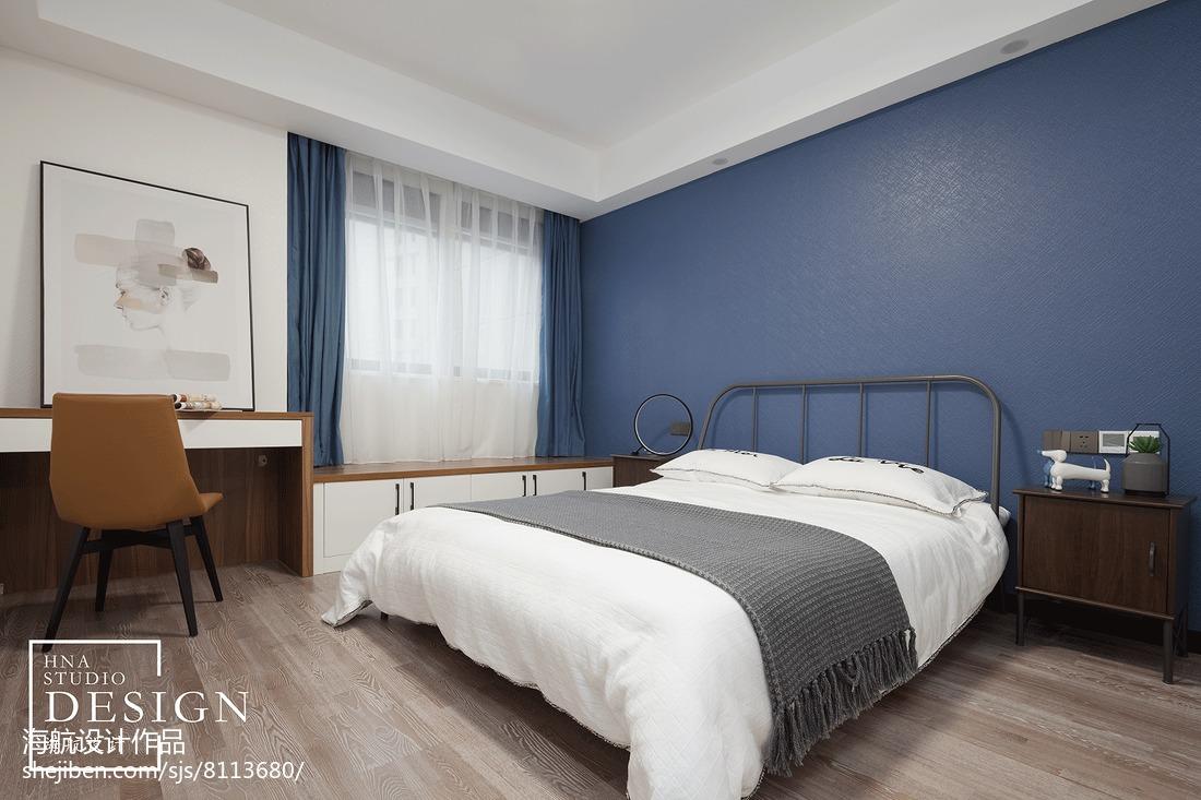 现代灰白系次卧设计图