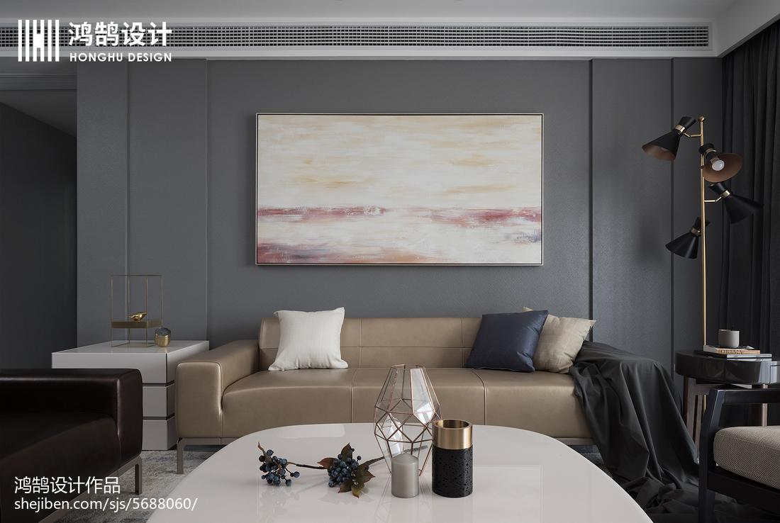 优雅115平现代三居客厅效果图片大全