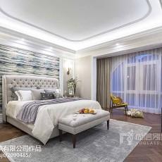 热门大小128平别墅卧室美式装修设计效果图片大全