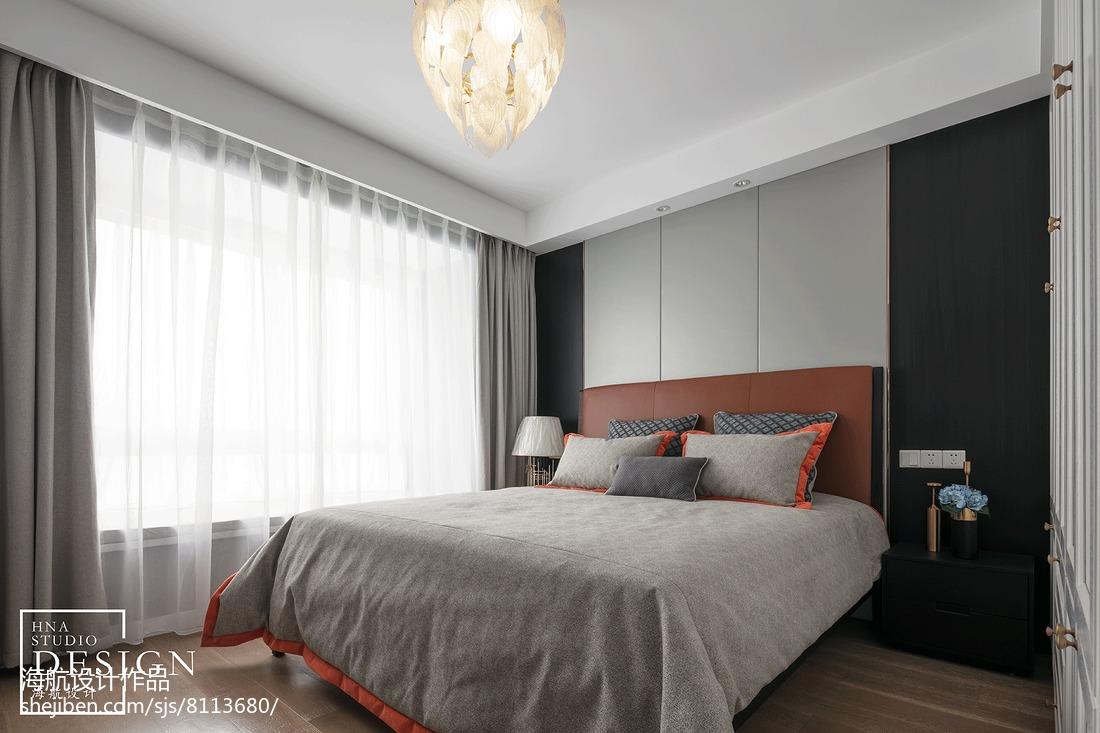 130平方四居卧室美式装修效果图片大全