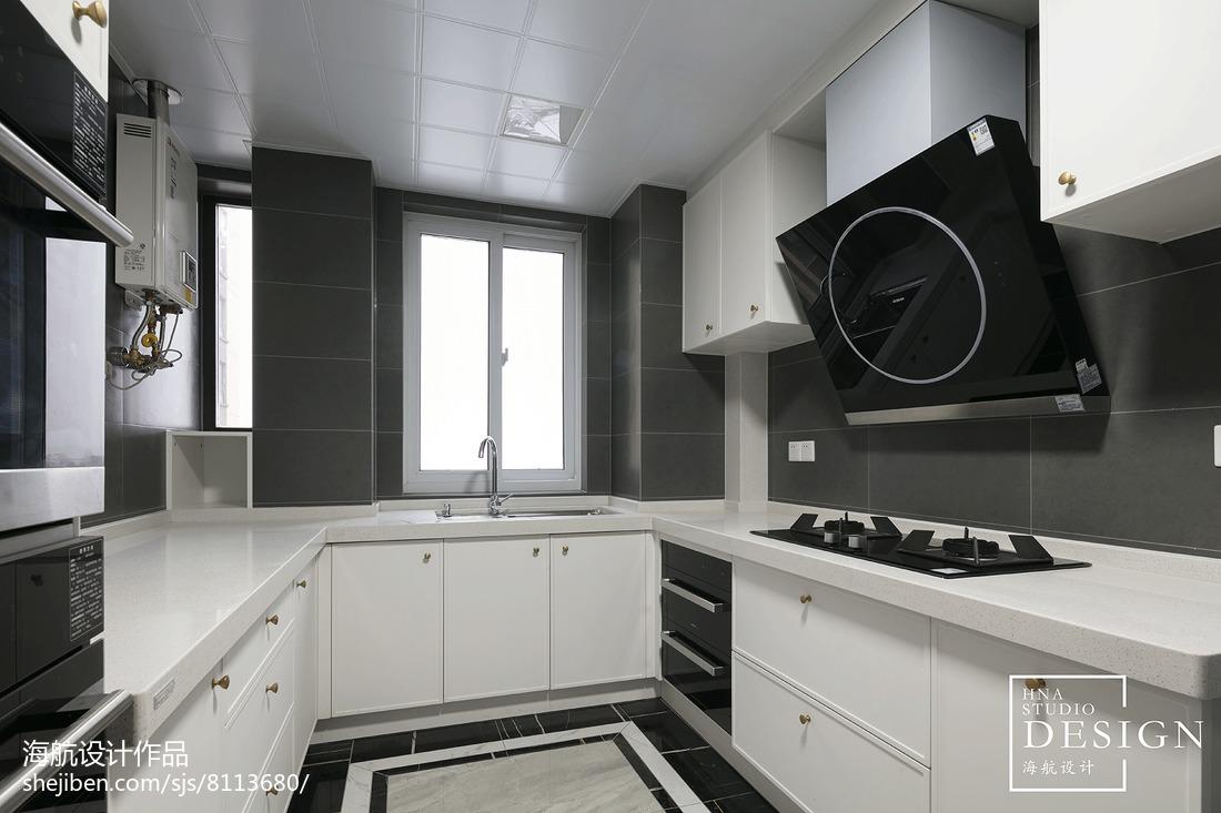 美式四居厨房实景图