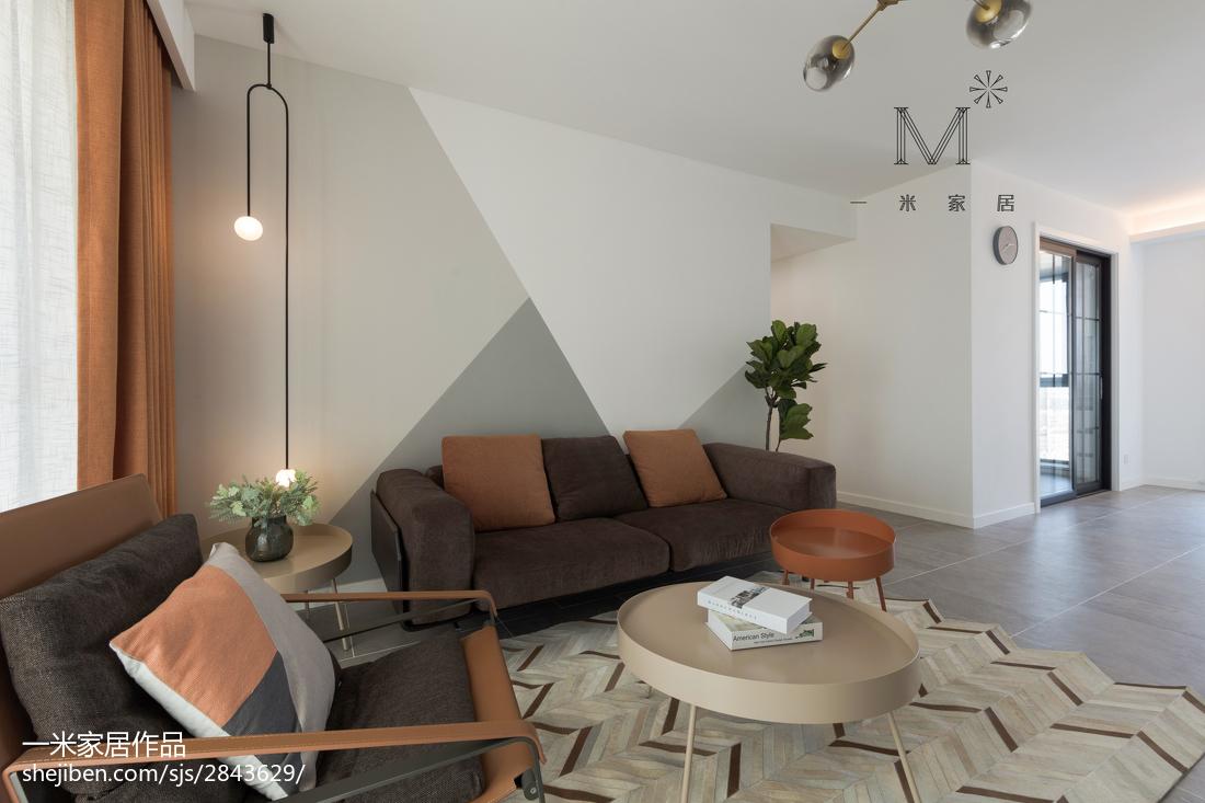 大气116平现代二居客厅效果图