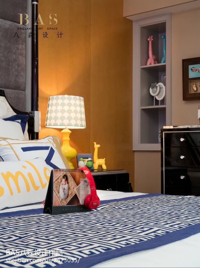 热门122平米欧式别墅卧室装修实景图