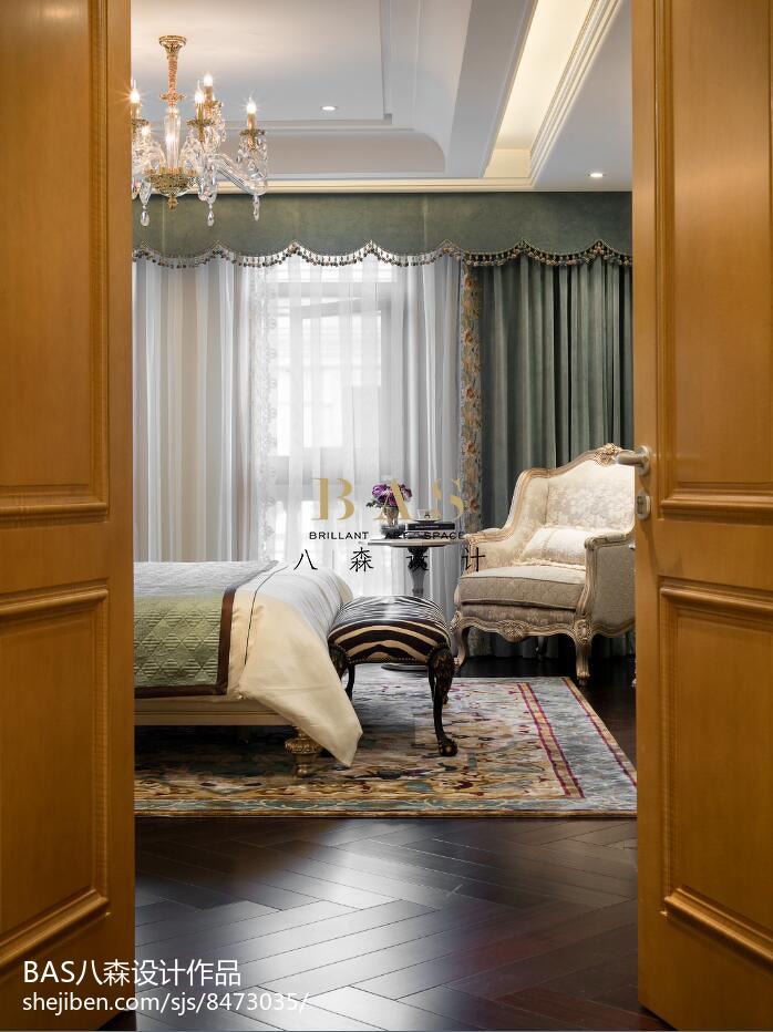 精选126平米欧式别墅卧室装修实景图片