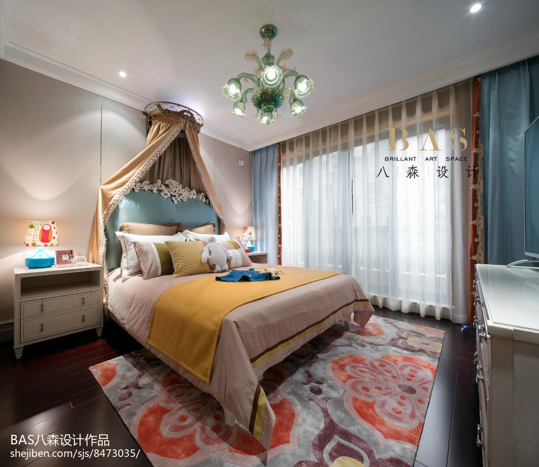 精美112平米欧式别墅卧室实景图