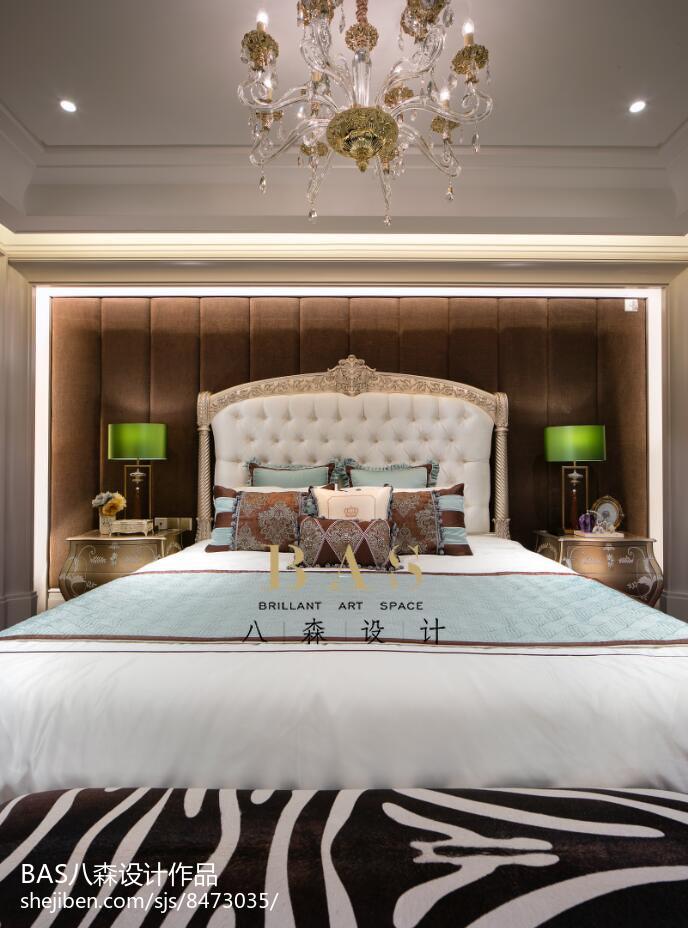 2018精选110平米欧式别墅卧室装修设计效果图