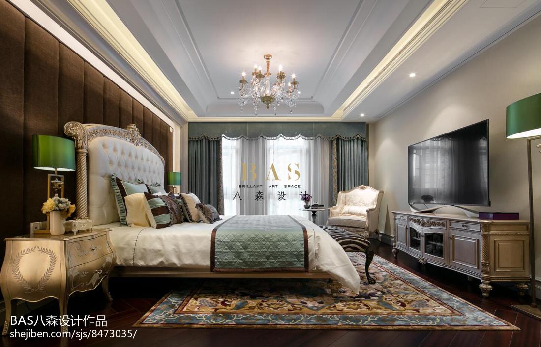 精选120平米欧式别墅卧室设计效果图