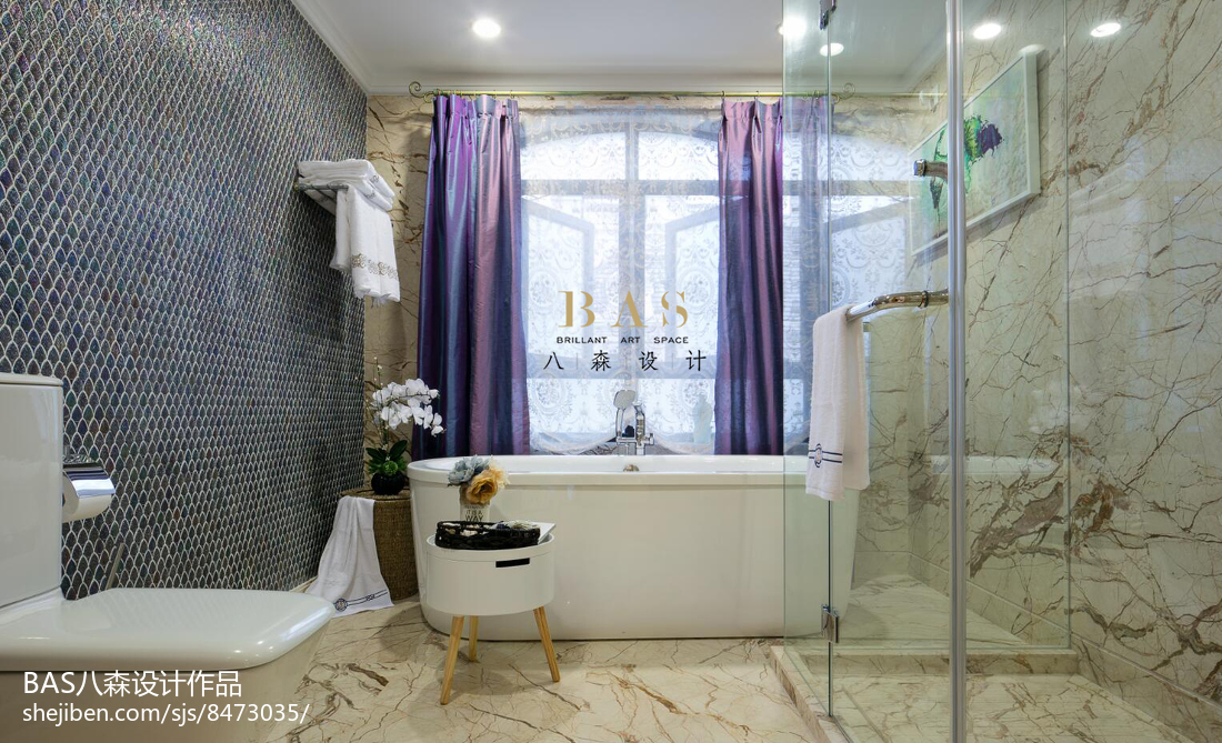 热门面积143平别墅卫生间欧式装修欣赏图