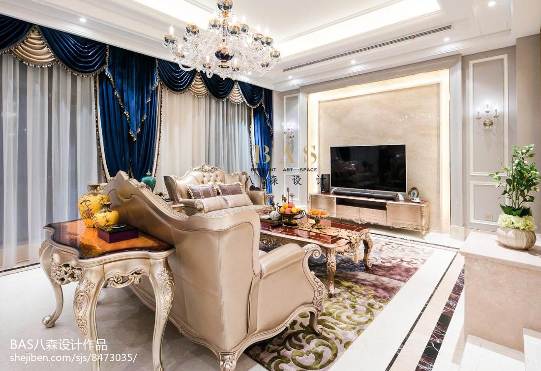 精美面积115平别墅客厅欧式装修图片欣赏