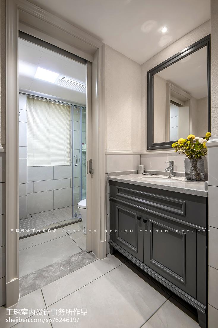 精美面积117平美式四居卫生间装修图片大全