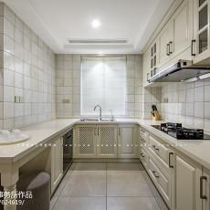 2018面积115平美式四居厨房装修图
