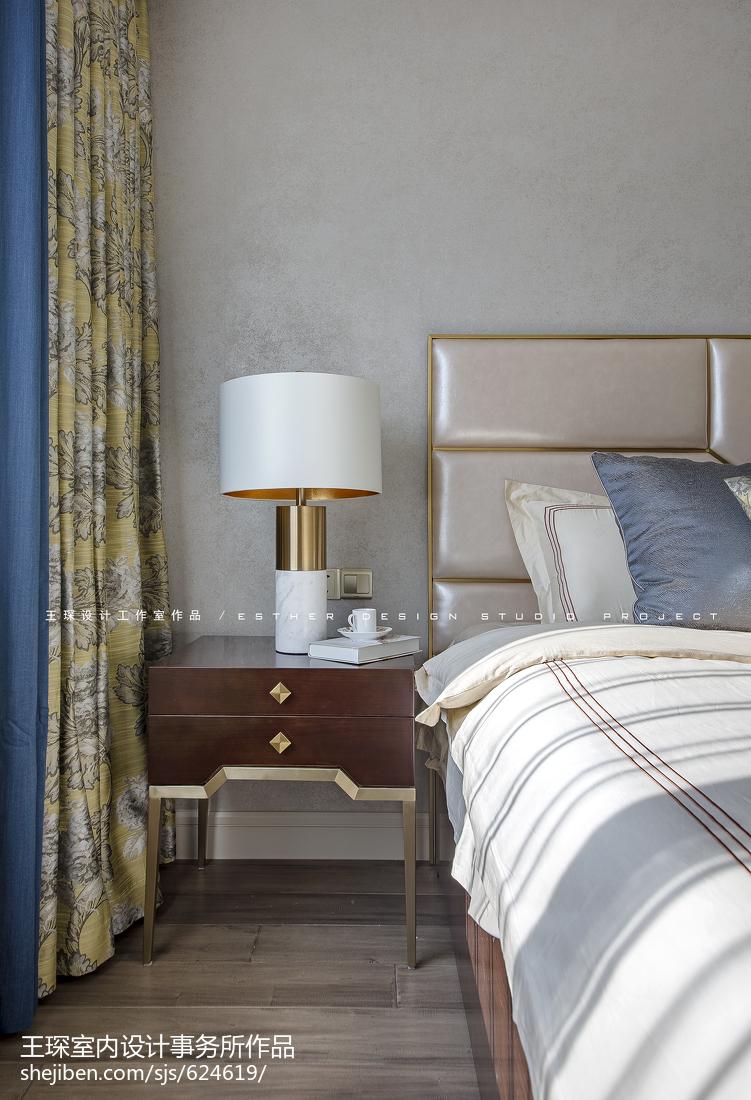 精美143平方四居卧室美式装修欣赏图片大全