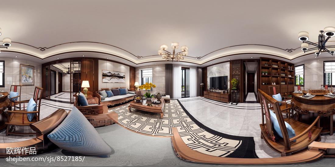 精美99平米三居现代装修设计效果图