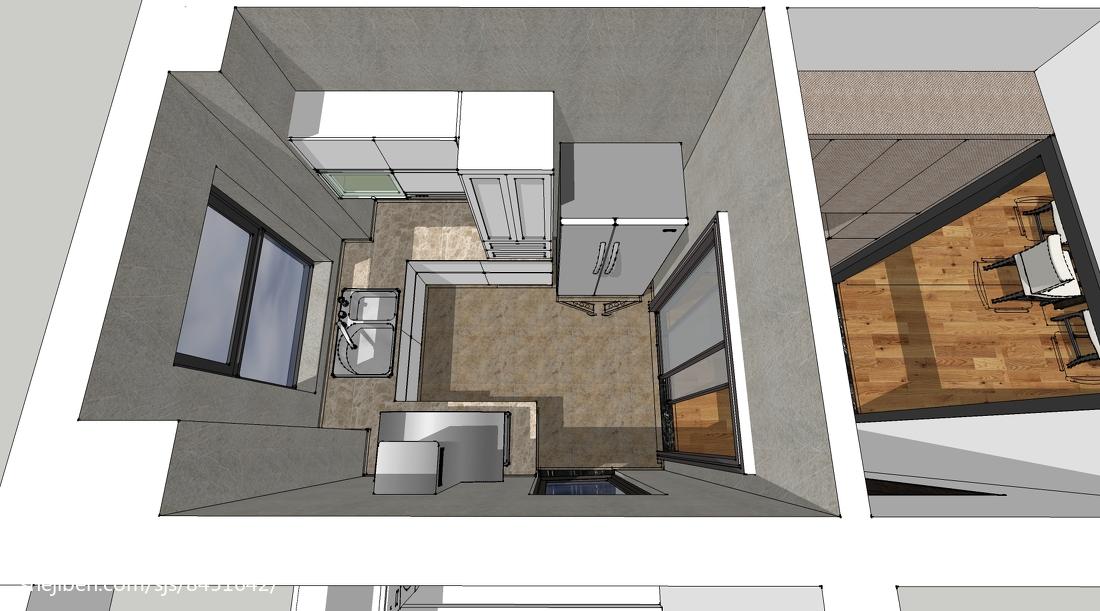 三室两厅中式风格厨房橱柜装修效果图大全2014图片