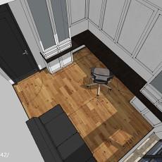 精美105平米三居书房中式装修效果图片