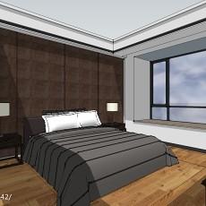 精美91平米三居卧室中式效果图片