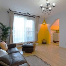 2018面积117平复式客厅美式装修效果图片欣赏