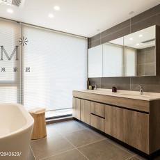 2018面积77平现代二居卫生间装饰图片大全