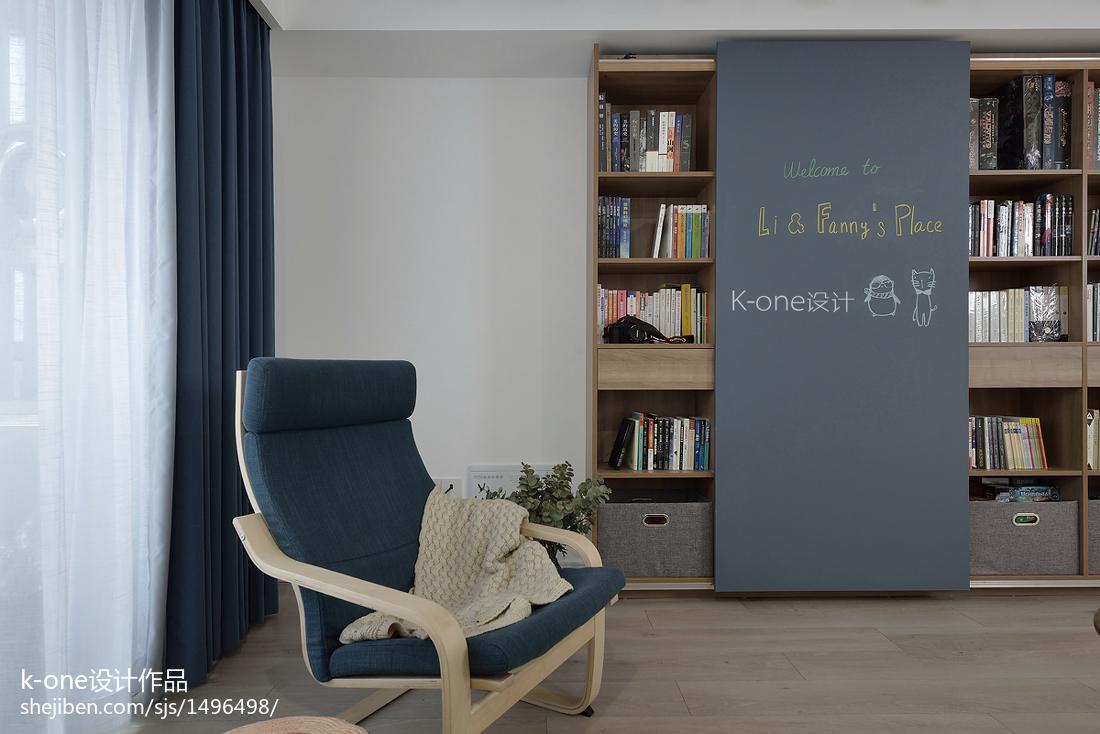北欧风格二居书架设计图