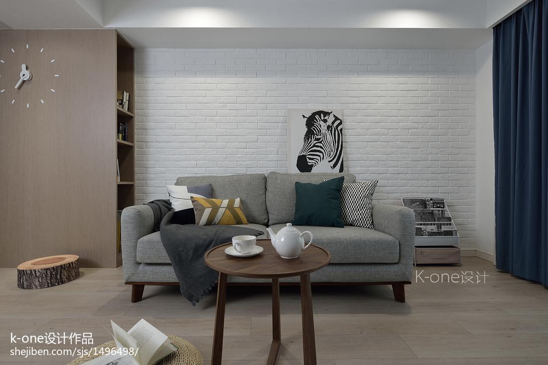 精美81平米二居客厅北欧装修效果图