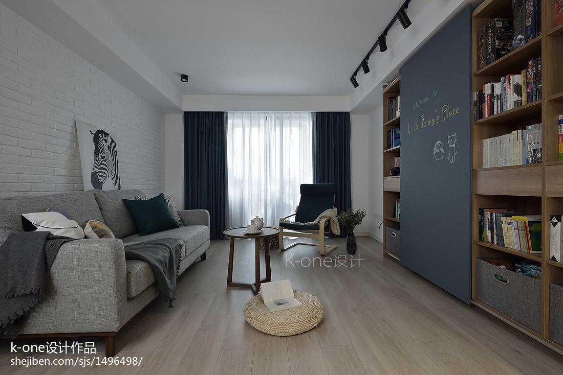 精选面积78平北欧二居客厅装饰图片大全