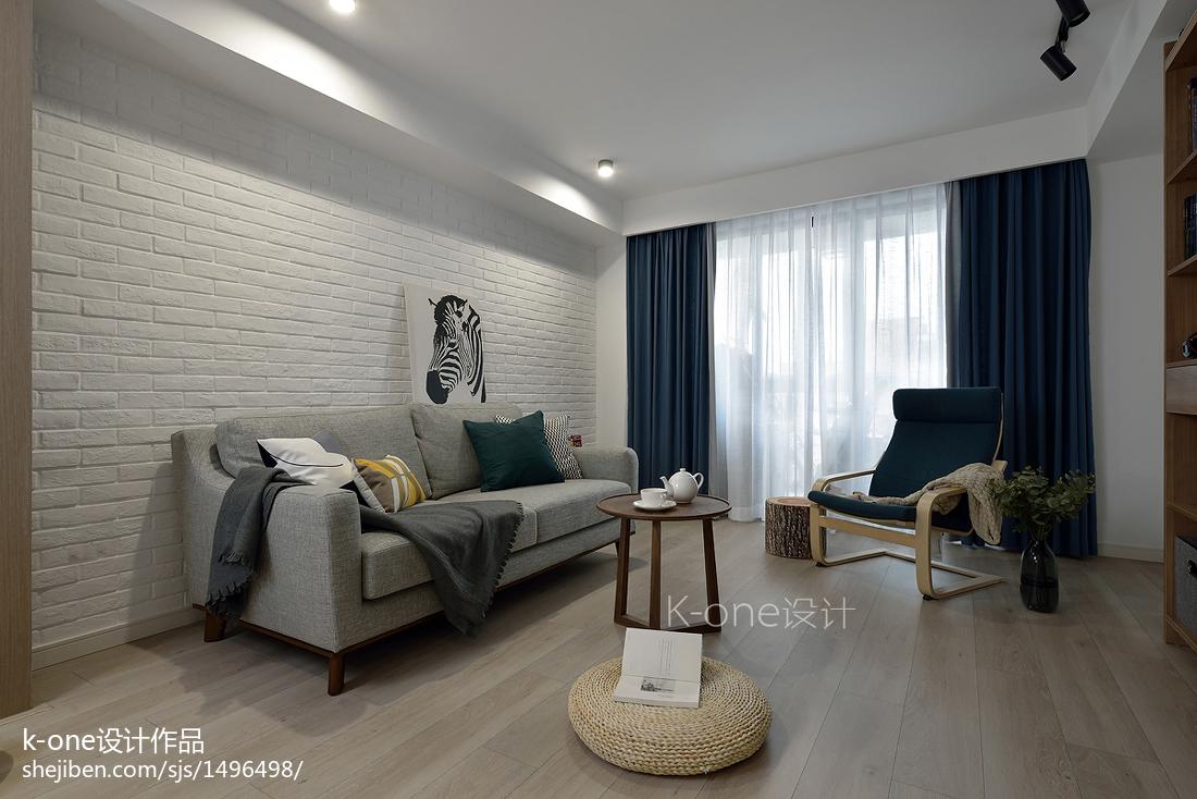 201874平方二居客厅北欧装修图片大全