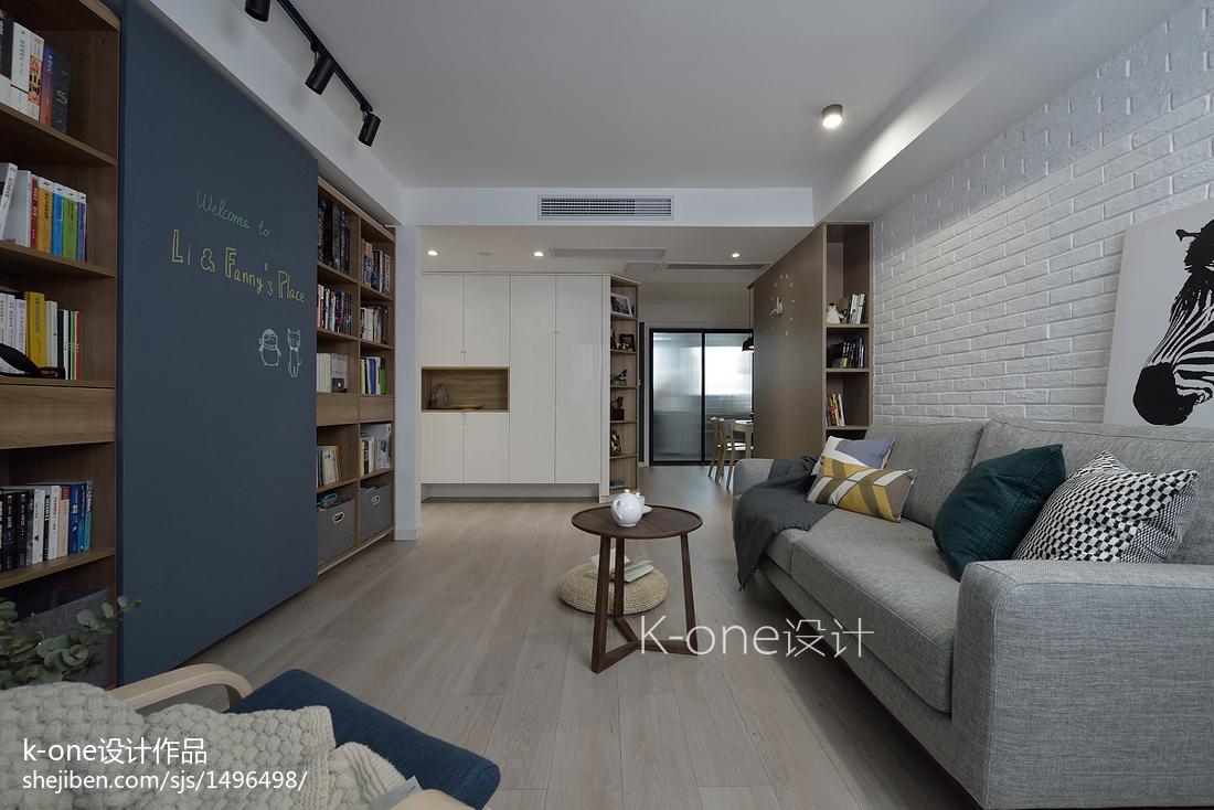 热门面积81平北欧二居客厅效果图片欣赏