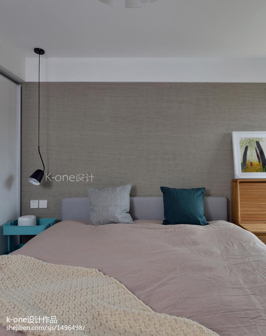 精美89平米二居卧室北欧装修效果图
